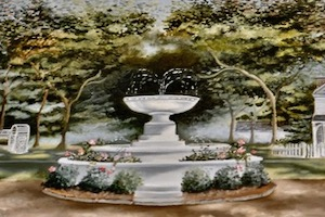 painting of local fountain