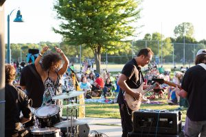 rock band in park