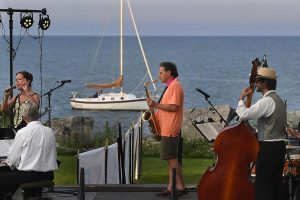 jazz band near lake