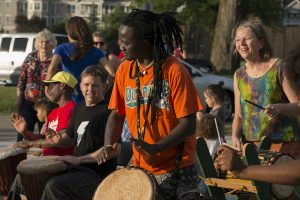 drum circle outdoors