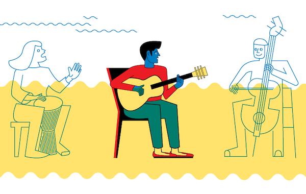 "Illustration of ""Track Meet"" by Daniel Greenfeld"