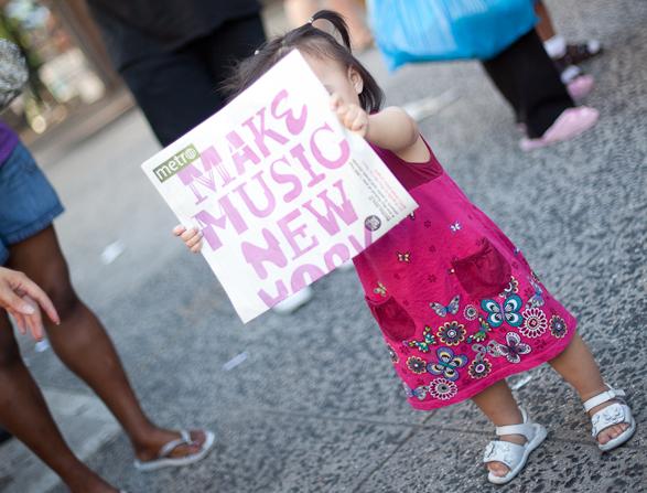 Girl with Make Music New York program