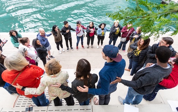 Heart Chant in Chicago, photo by Phillip Solomonson