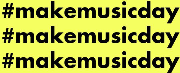Make Music Day hashtag