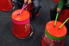 bucket drumming