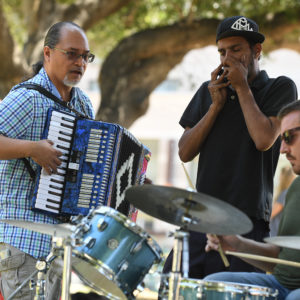 Jamming at Plaza de Cesar Chavez