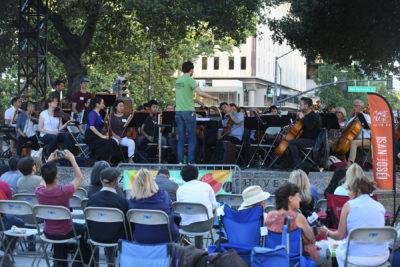 Awesome Orchestra performing in the park