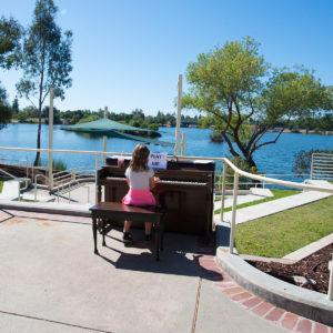 Girl playing piano at Almaden Lake Park