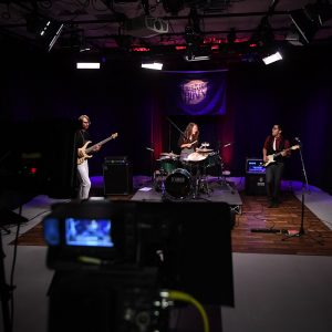 Band playing in TV studio