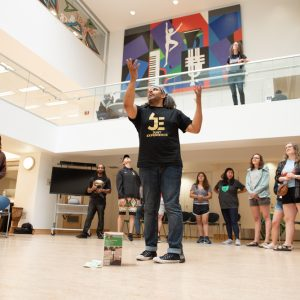 Ryan Parker leads a Hip Hop Lyric Workshop.